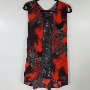 Simply Vera Wang   Long Tunic size M med red black
